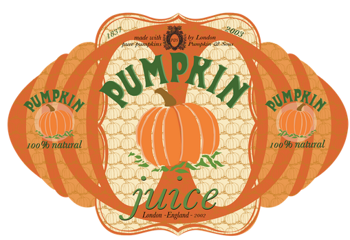 Pumpkin Juice Label by credechica4