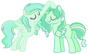 Minty Mist and Boreal Wind by CrystalPonyArt7669