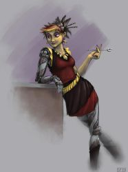 Synthia at Work by SPipes