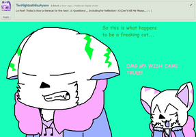 Ask ttoba Sans or Reflection #20 by cjc728