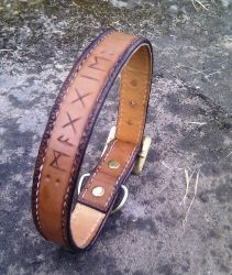 Leather Dog Collar by Half-Goat