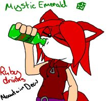 Ruby drinks mountain dew by mitchika2
