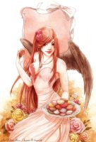 :COM: Lily with macaroons by Doria-Plume