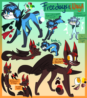 Freedays and Naya reference sheet by NoasDraws