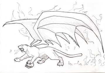 Demon panther WIP by wolfsouled