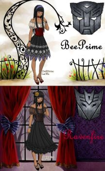 OC's in Gothic Lolita version by BeePrime93