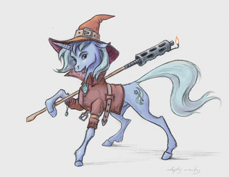 124Trixie with her napalm stuff by monitus