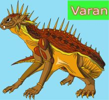 Varan redesigned by Skyegojira