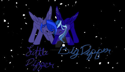 Little and Big Dipper by iiSilentCrxssMlp