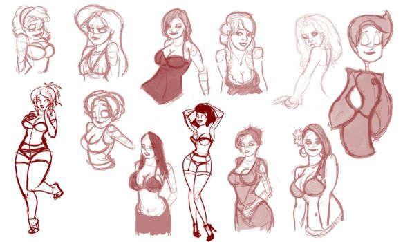 Hey looky there more sketches by TheCosbinator
