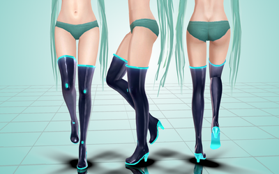 Miku shoes. MMD. by NekaSan