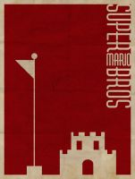 Super Mario Bros Minimalist Poster by revoltersds