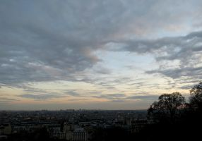Sunset Over Paris by Michies-Photographyy