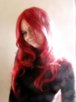 my red wig 2 by Woelfchen1980