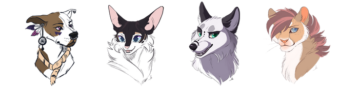 Army of headshots by OwlCoat