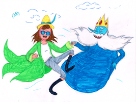 Magic Betty and Ice King by WhiteLedy
