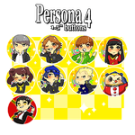 Persona 4 Buttons by Nozominn