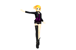 MMD Rocker Rin DL by 2234083174