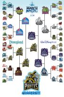 Disney March Magic Bracket 2014 by Xelku9