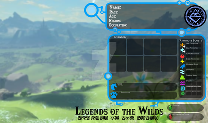 Legends of the Wilds (LotW): Character Card by BuukuStudios