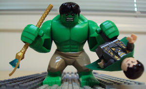Puny god... (Lego Marvel vignette) by HaroldPotter