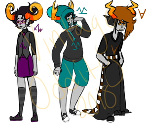 Homestuck Adopts || OPEN (2/3) by VintageOddity