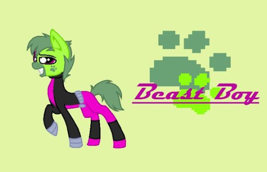 BeastBoy Ponified by EarthPonyProjects