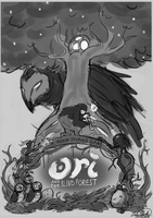 Sketch - Ori and the Blind Forest by Sawuinhaff