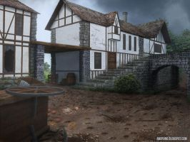 Village after the attack by Androno25