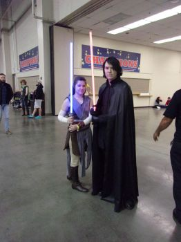 Rey and Kylo Ren by Shulkie