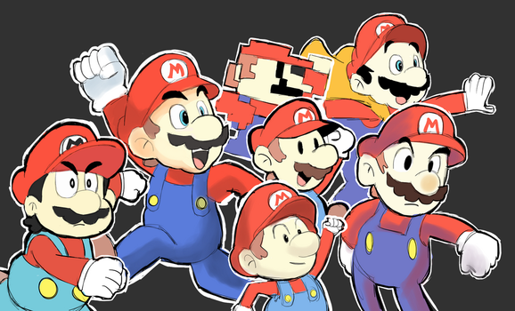 Different Style - Super Mario by AlSanya