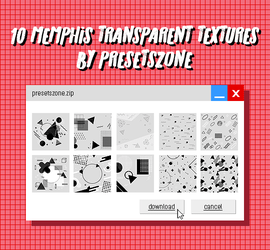 Memphis Transparent Textures Pack by onesthing