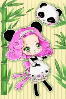 Chibi Panda Girl by Fiorina-Artworks