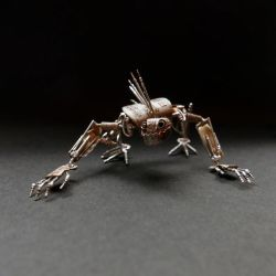 Articulated Watch Parts Creature 'Gadget' (II) by AMechanicalMind