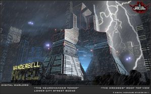 Neuromancer Tower Concept - Digital Warlord by JWraith