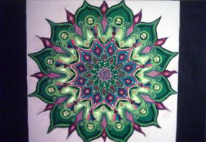 heart mandala by A-KASH-A