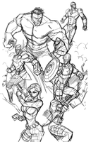 The Avengers (WIP) by Hodges-Art