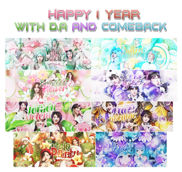 [Pack share] #1 Happy 1 year with D.A and cameback by BB-Sasaki