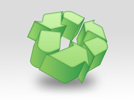 Free Psd File of a 3D Recycle Icon by Designhub719