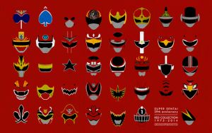 Super Sentai 39th Anniverary Red Collection by CalicoStonewolf