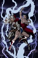 Thor Vs. Wonder Woman 2012 by thelearningcurv