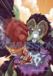 Commission - Golden Sky Hero CH4 cover by FischHead