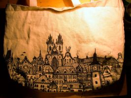 Cityscape Tote by skeletonzoo