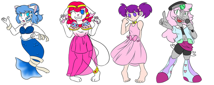 Not Redesigning Some Kinda not so nice peoples OCS by MyDoggyCatMadi