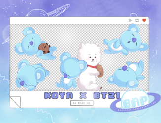 Pack Png 1380 // Koya x BT21 by BEAPANDA