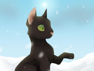 Hollypaw's First Snow by ChikkiArts