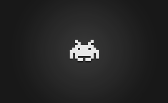 Space Invaders Wallpaper by Vellosia