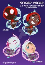 Spider-Verse Keychains by AbbyStarling