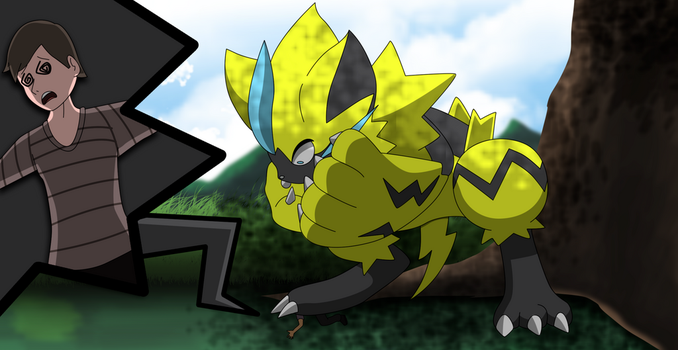 Commission: Oh no Zeraora! by All0412