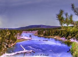 Yellowstone River Yellowstone National Park 2014 by MSchmidtProductions